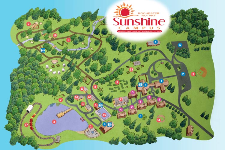 Map of Rotary Sunshine Campus